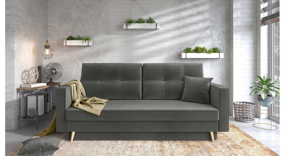 Stylefy Tergola Einzelsofa Grau Velours - Möbel online ...